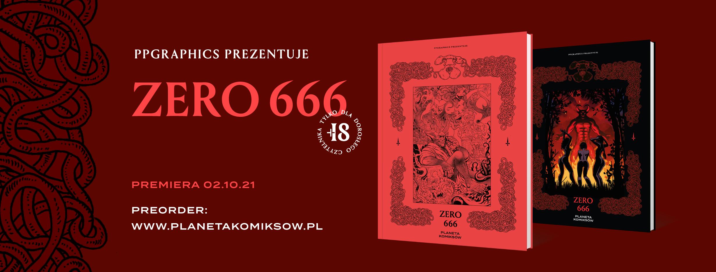 Okładki ZERO-666, nowej odsłony PPGraphics! Preordery już w przyszłym tygodniu!